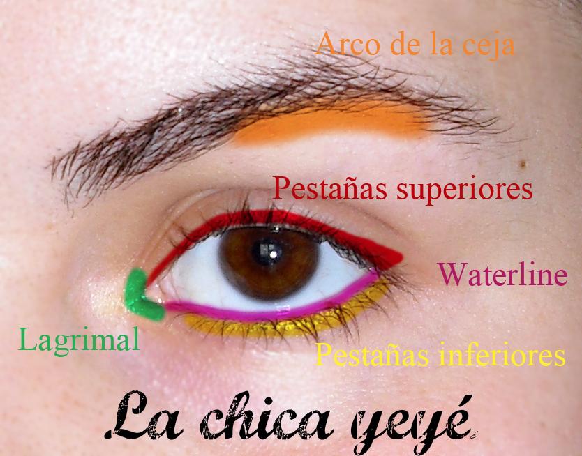 Las distintas partes del ojo en Maquillaje   La Chica Yeyé