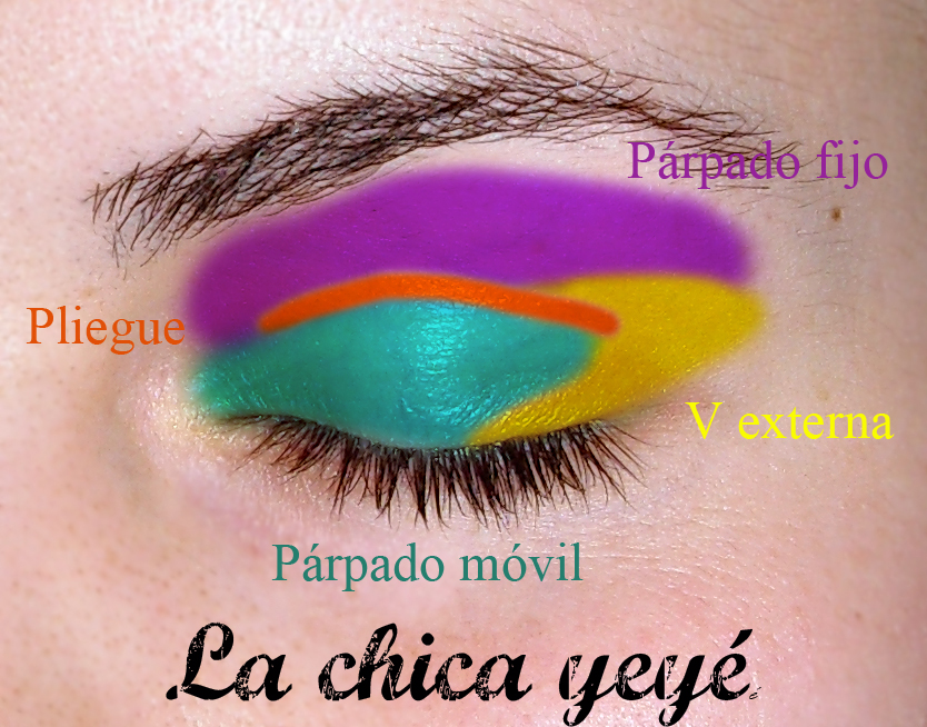 Las distintas partes del ojo en Maquillaje