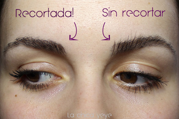 how to trim eyebrows como recortar cejas'