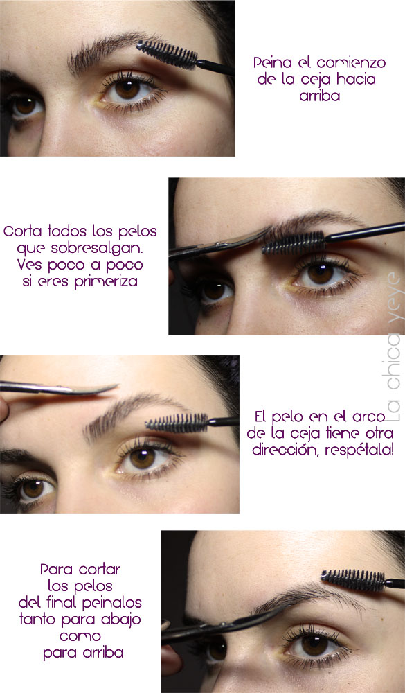 how to trim eyebrows como recortar cejas