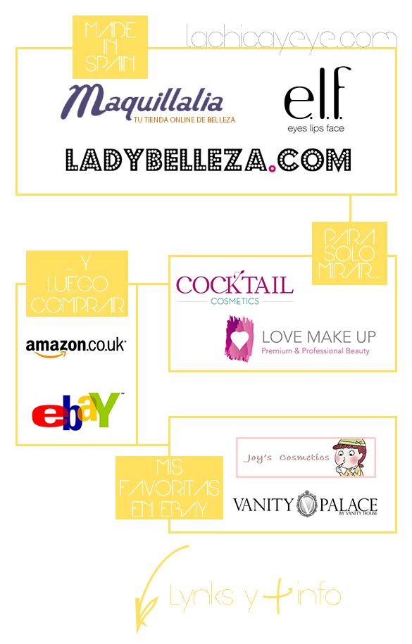 Mis tiendas online de maquillaje favoritas