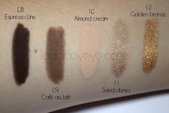 Milani Naturally chic shadow eyez review swatches3